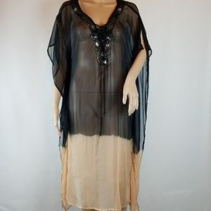RaViya Black and Coral Cover-up XL